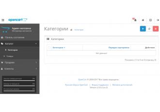 Opencart 2.x - Скрыть недоступные пункты меню в админке