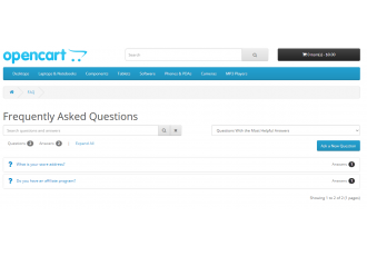 Opencart 2.x - Questions & Answers PRO - Ask a question