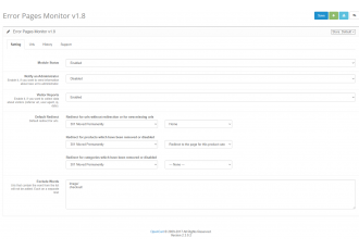Opencart 2.x - ErrorPageEditor - ErrorPagesMonitor