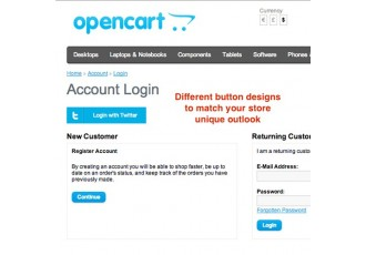 Opencart 2.x - TwitterLogin - Powerful Plug