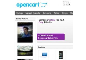 Opencart 2.x - TwitterPics - Display Twitter Pics