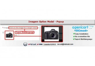 Opencart 2.x - Image Option Modal Popup