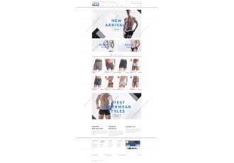 Opencart 2.x - Шаблон нижнего белья - Men's Underwear