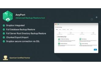 Opencart 2.x - AnyPort - Backup