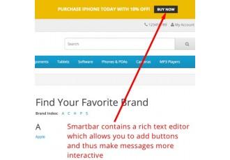 Opencart 2.x - SmartBar - Smart message bar