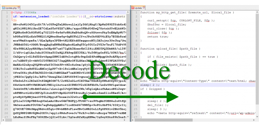 How to decode ioncube encoded php files online