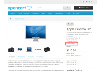 Opencart 2.x - Advanced Product/Item Condition