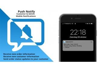 Opencart 3.x - Push Notify - Mobile Push Notifications