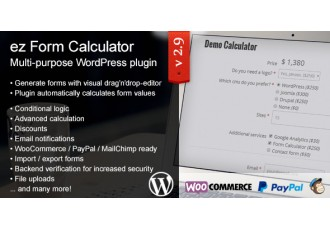 CodeCanyon - ez Form Calculator (premium) - WordPress plugin