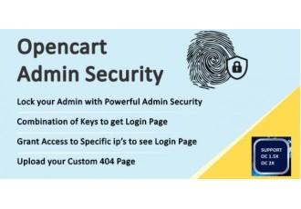 Admin Security Opencart