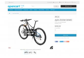 Opencart 1.5 - 2.x AJAX-ZOOM IMAGE + 360 °