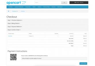 Opencart - BitCoin Payment Method