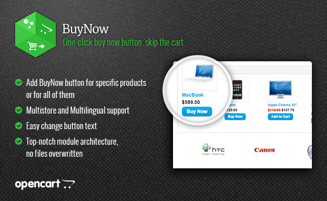 Opencart 2.x - BuyNow - One-click buy now button, skip the cart