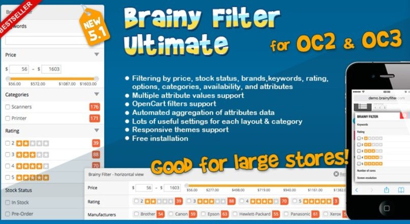 Brainy Filter Ultimate for OC2 & OC3 without ioncube